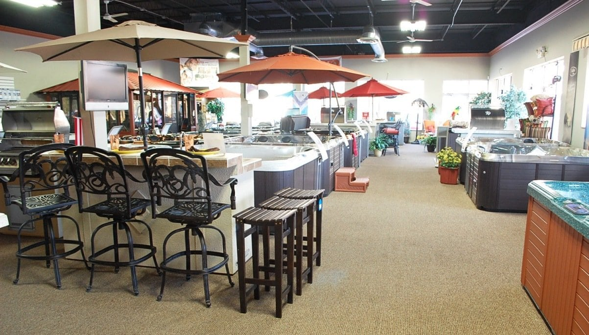 A Showroom Full of Spas, Kitchens, Grills, and More