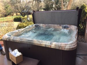 New hot tub from Spa Warehouse in Hagerstown, MD