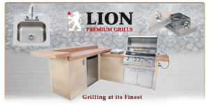 Lion Grills in Spa Warehouse Hagerstown, MD showroom on Pennsylvania Ave.